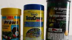 Trockenfutter JBL Novo Prawn, TetraCrusta Menu & JBL Premium Spirolina