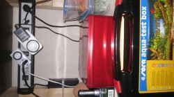 Hier sieht man die angebrachte Steckdosenleiste die man jeweils zweifach ein-bzw