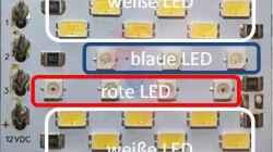 Aufteilung der verschiedenen LED auf dem Cluster von `daytime` ..
