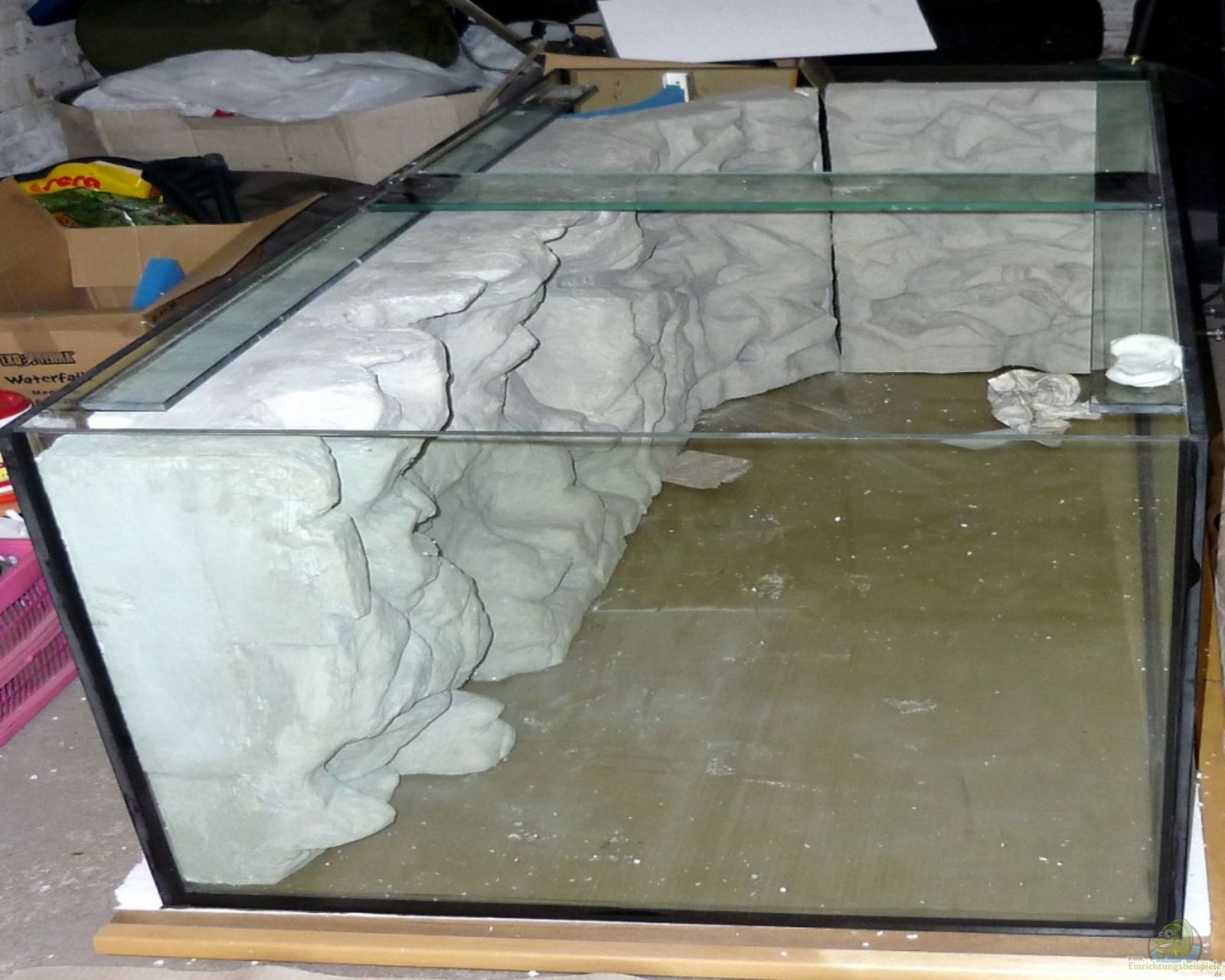 Bau meiner r ckwand aquarium einrichtungsbeispiele - Aquarium ruckwand selber bauen anleitung ...