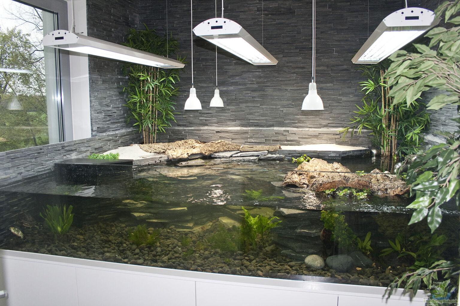 aqua terrarium 300x220x60 mit 1700 l wasser und 680 l landpart aus aqua terrarium f r. Black Bedroom Furniture Sets. Home Design Ideas