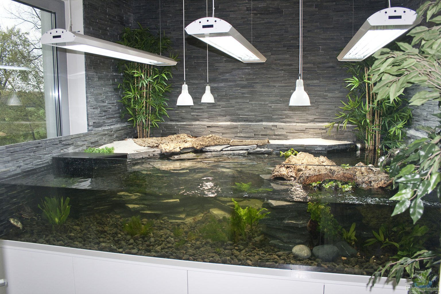 aqua terrarium 300x220x60 mit 1700 l wasser und 680 l. Black Bedroom Furniture Sets. Home Design Ideas