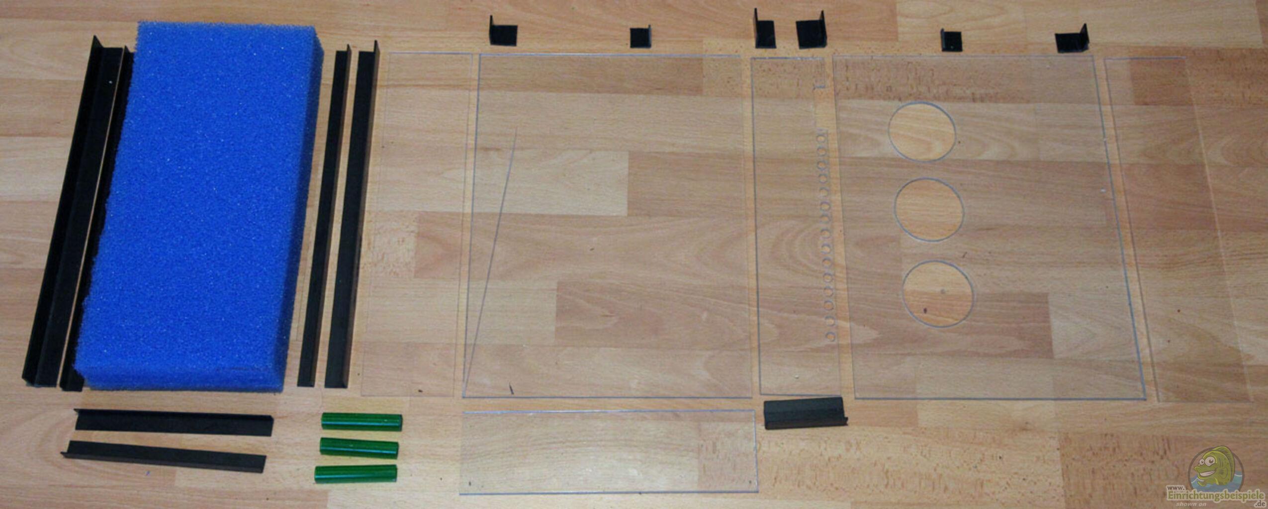 bauteile des hmf acrylglas profilleisten filtermatte aus kinderzimmerbecken von tilo schmiedl. Black Bedroom Furniture Sets. Home Design Ideas
